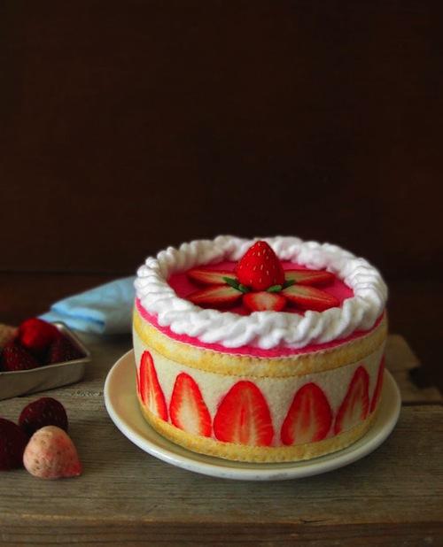 Milkfly - Felt French Strawberry Shortcake