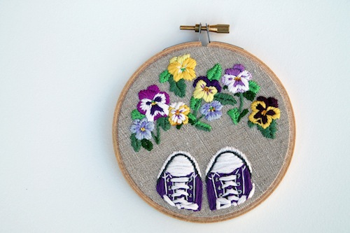 IttyBittyBunnies - Floral Shoes Embroidery