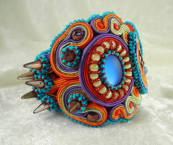 In Living Color Cuff in Merry-Go-Round, by Amee K. Sweet-McNamara