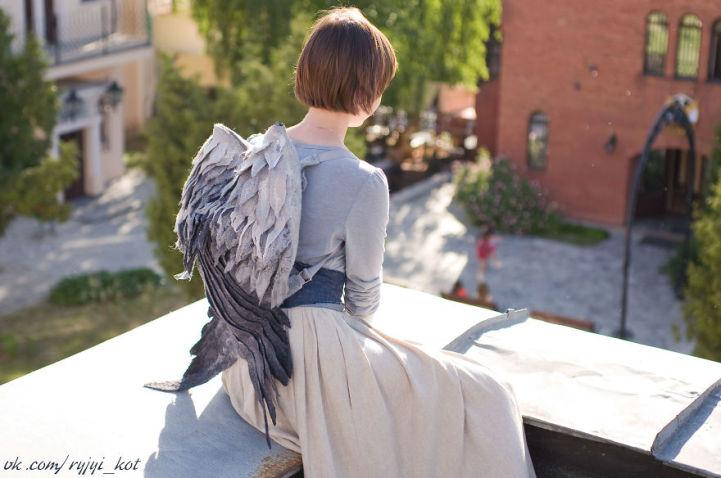 Felter Skelter: Winged Backpacks by Volha Kotova