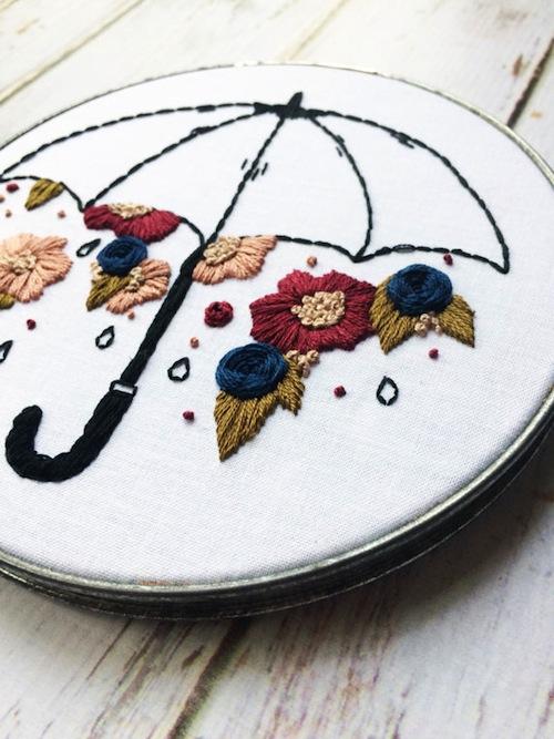 Thread The Wick - Raining Flowers Hoop (detail)