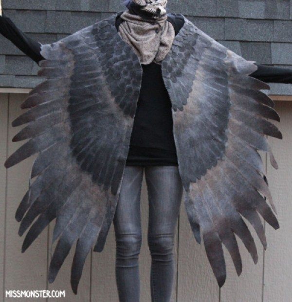 Miss Monster Mel wing shawl