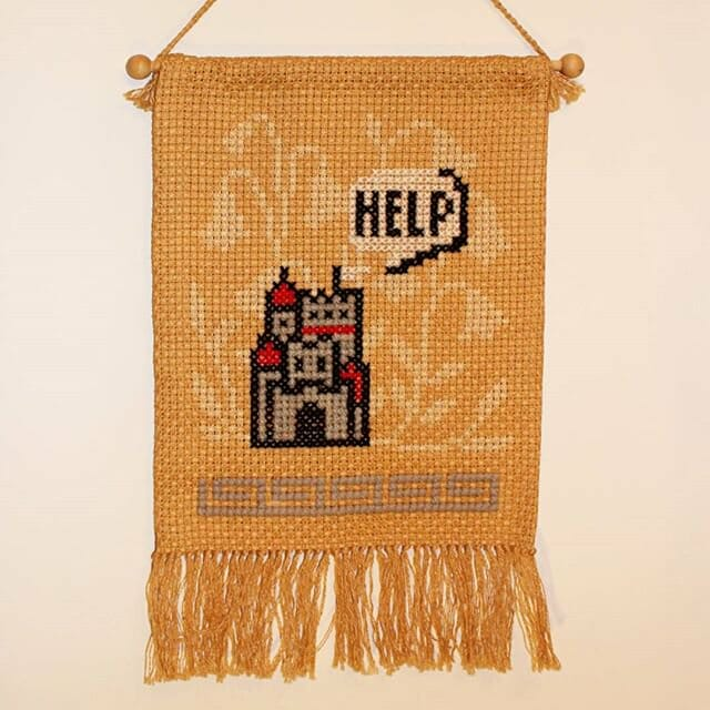 mario castle cross stitch by TERESA KNIGHT