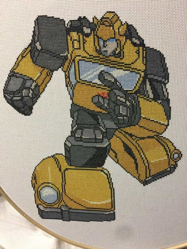 Transformers Bumblebee Cross Stitch by saber4734