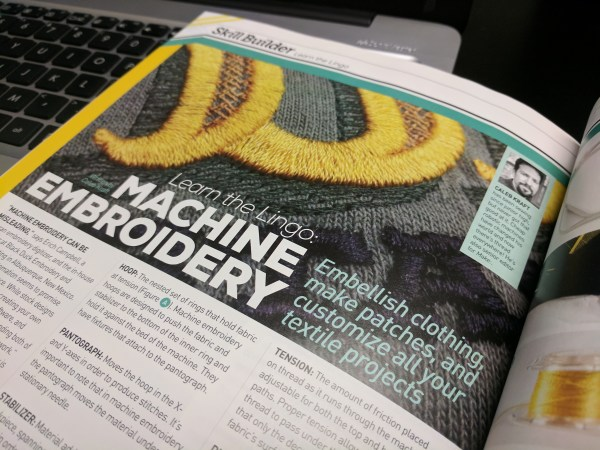Machine Embroidery: Learn The Lingo in Make Magazine