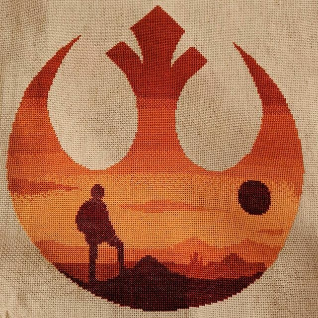 star wars rebel cross stitch by thevegancrafter