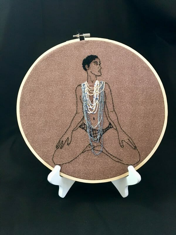 A Subtle Notion - Goddess - Hand Embroidery