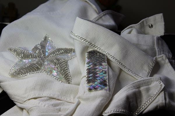 Embroidered jacket, by Claire Edwards
