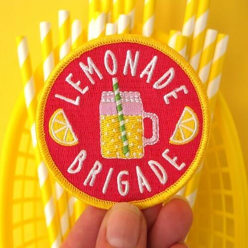 Hey Hey Ginger-Lemonade Brigade Patch