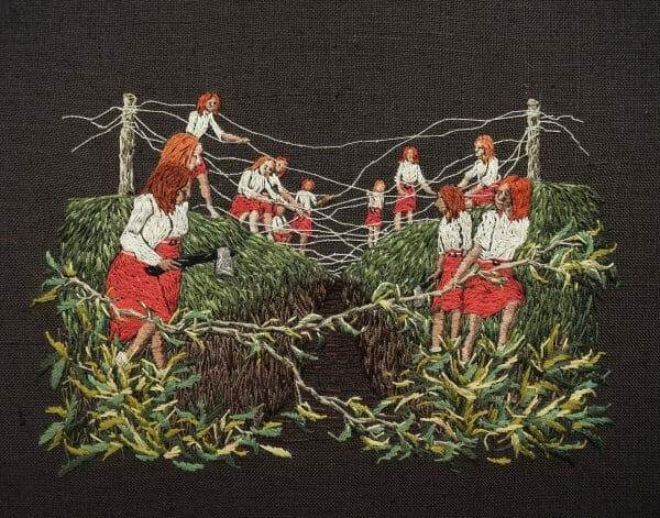 Michelle Kingdom - Leaving No Relics (2017) – Hand Embroidery
