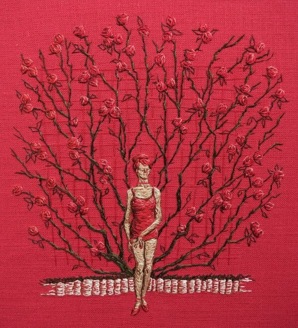 Michelle Kingdom - Precisely Red (2017) – Hand Embroidery