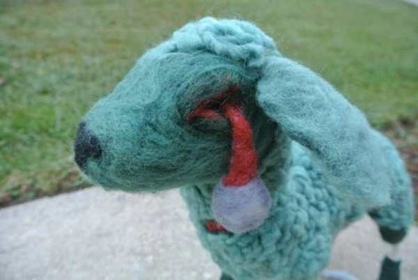 Perfectly Bohemian's needle felted Zombie Lamb