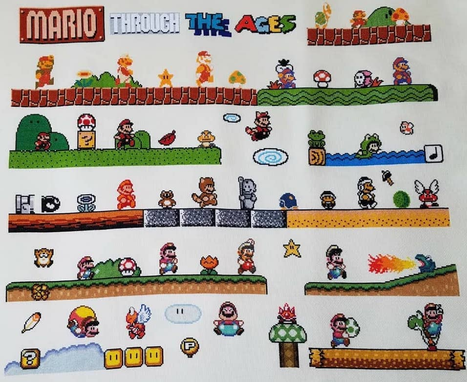 mario through the ages by moiraestitches