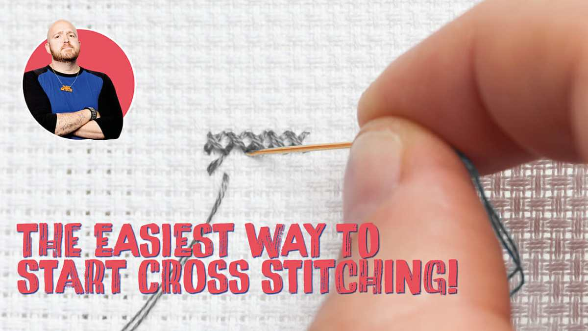 The Easiest Way To Start Cross Stitch – It's The Loop Technique