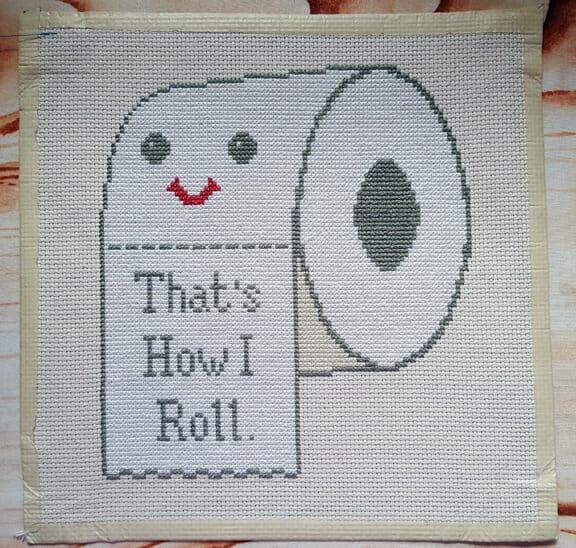 The Mistress T's toilet roll cross stitch