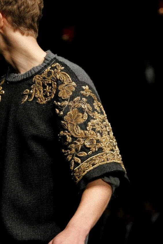 Goldwork sleeve - Dolce and Gabbana Mens AW/13