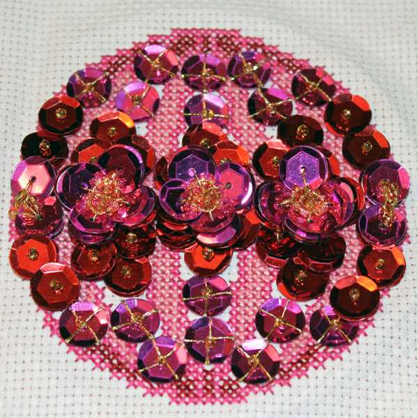 Cross Stitched Bauble by Emma White from Brighton, England