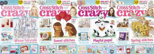 Cross Stitch Crazy covers for January to April 2017