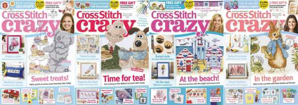 Cross Stitch Crazy covers for May to August 2017