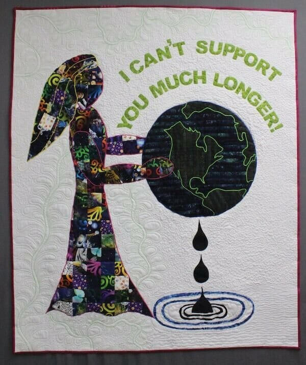 Becky Grover's Help, a quilt to bring awareness to Mother Earth