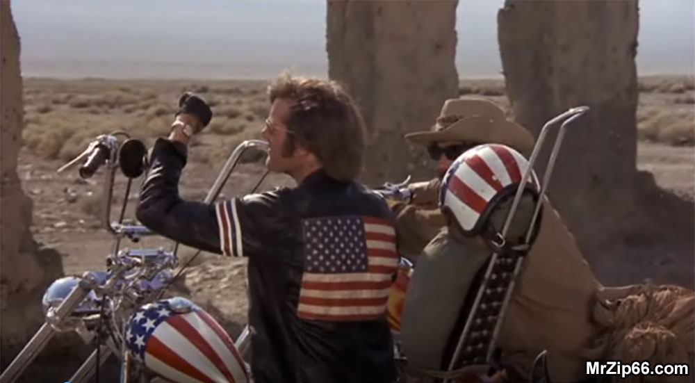 Easy Rider Opening Credits Death Valley California