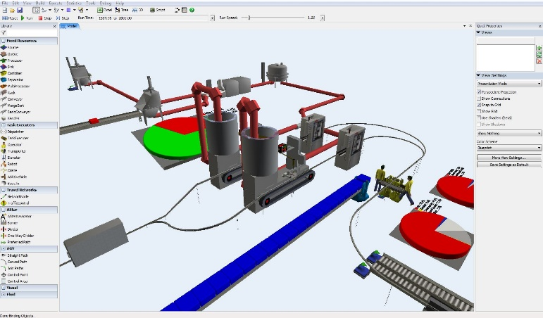 simulador FlexSim procesos ingenieria especialistas