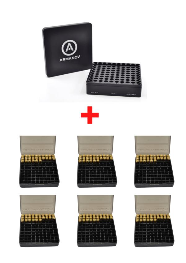 Patronenlagerlehre 9x19 Patronenbox grau | Wiederladen | MS - Shooting