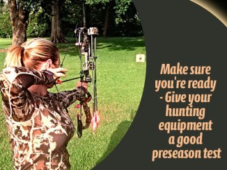 You should have your bow serviced and ready to go long before opening day.