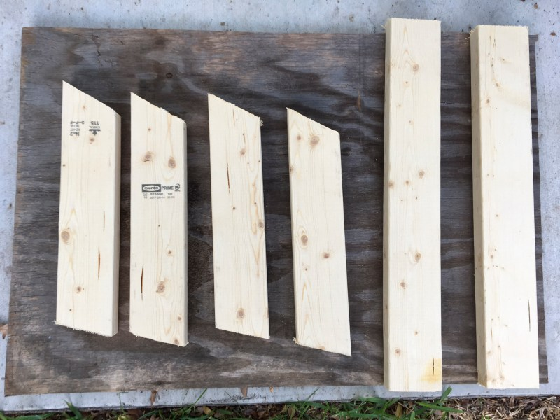 You can build your own dog stand with only 2X4s, 1X6s, a piece of plywood for the top and 3-inch screws for assembly.