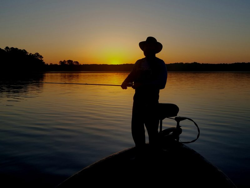 While most fishermen head to the dock at sunset, others are just starting to fish. They know that during the summer, the action heats up as the night cools down.