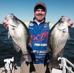 Kent Driscoll said his best day crappie fishing occurred on Grenada Lake in 2003 when his best 10 fish weighed an average of 3 pounds.