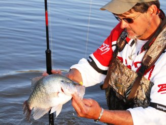 Crappie pro Ronnie Capps said to look for water that's just a little deeper than what anglers have been wading through the spawn.