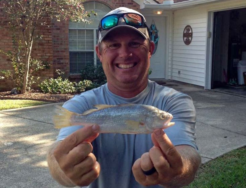 Donald L. Bosarge II with his Silver Perch. (Photo courtesy MDMR)