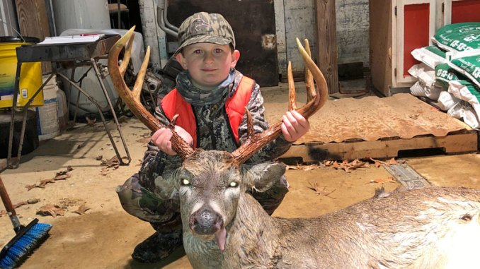 Reed Courtney is having a great deer season, here he holds a Hinds County bruiser, and it is his best buck to date.