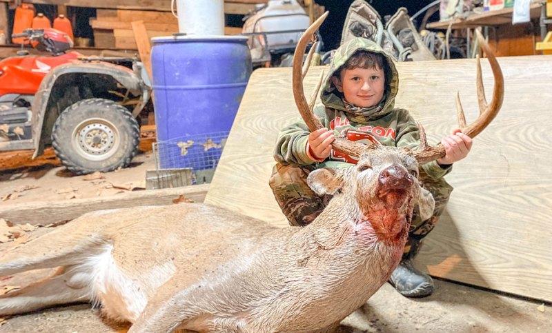 Reed Courtney's third buck this season was a massive Hinds County 8-point with an 18-inch inside spread and 23 ½-inch main beams.