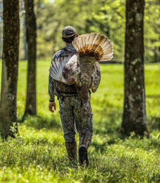 Justin Hutton's Madison County gobbler carried a 9 1/2-inch beard and half-inch spurs. (Photo courtesy Matt Harrison)