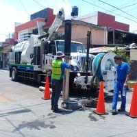 Eficientes resultados presenta CAPASU en la limpieza y desazolve con el nuevo camión VAC-CON