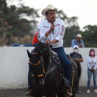 Asociación de Charros en Uruapan, muestra su adhesión a la 4T y a Nacho Campos