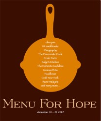 Menu for Hope IV: Artigianale Basket – A Taste of Italy!