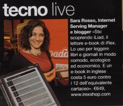 Sara Rosso in May 2008 Italy Glamour