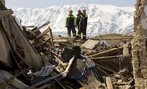 Earthquake in Abruzzo, Italy, and reflections on another California Earthquake