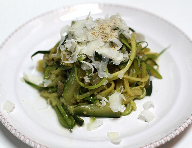 Cacio e Pepe, Pecorino Romano and Pepper with Zucchine Recipe