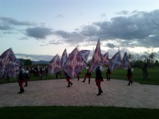Flag throwing in Assisi, Italy