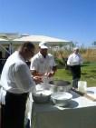 Making mozzarella at a Bari wedding