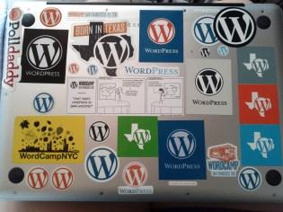 My tribute to WordPress on my laptop