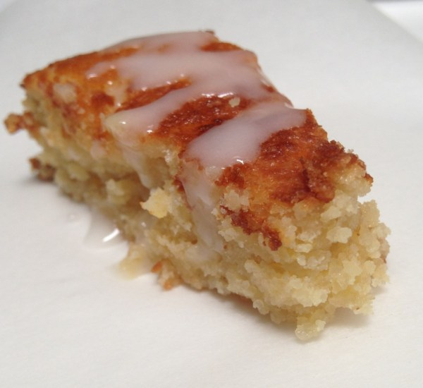 Lemon Almond Cake with a Lemon Glaze by Sara Rosso, Ms. Adventures in Italy