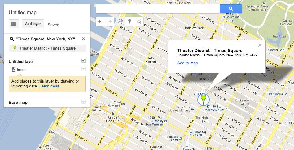 Google Map: newer interface