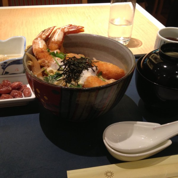 Tendon meal in Tokyo, Japan, by Sara Rosso at Ms. Adventures in Italy