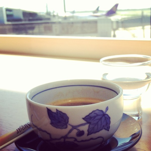 Departure espresso and Japanese sake, Tokyo, Japan, by Sara Rosso at Ms. Adventures in Italy
