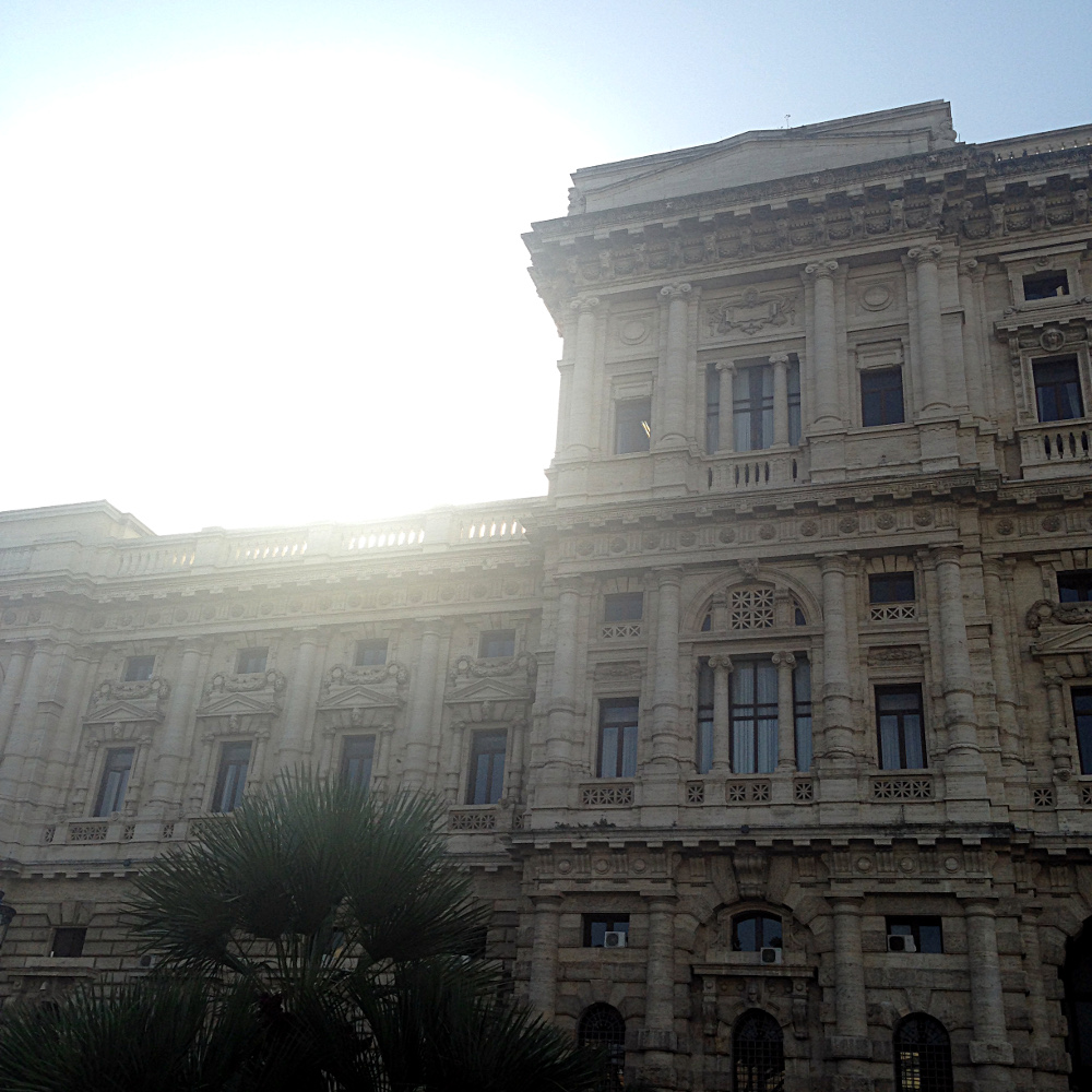Rome, the Sun Peeking over a building, Ms. Adventures in Italy by Sara Rosso